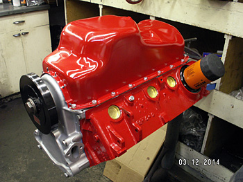 Assembled short block with oil pan